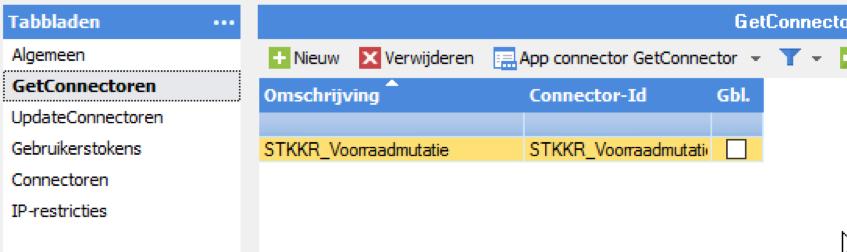 Getconnector, appconnector, STKKR
