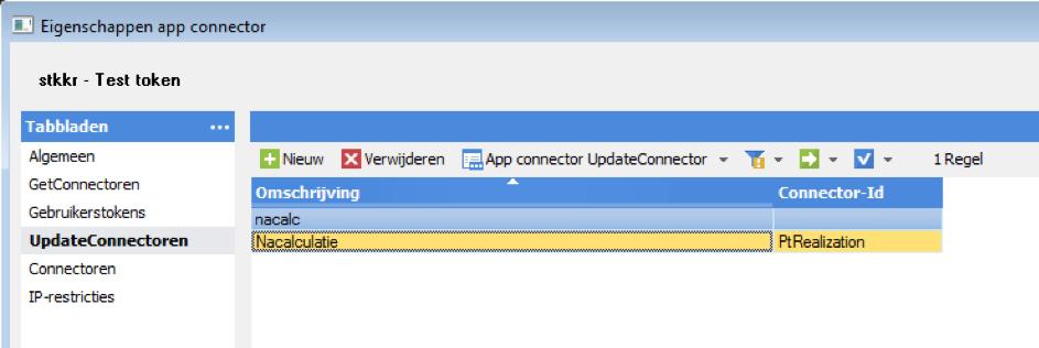 Eigenschappen UpdateConnectoren, STKKR, AFAS